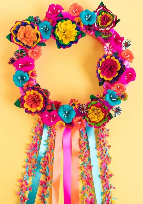 DIY FiestaFlower Wreath