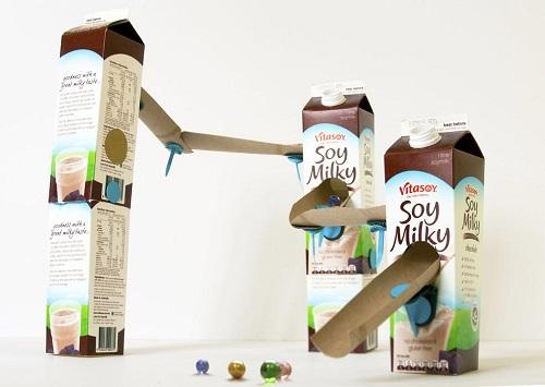 Milk Carton Marble Run